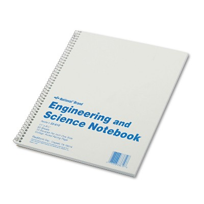 National Engineering and Science Notebook College Rule 11x 8 1/2 White 60 Sheets 33610