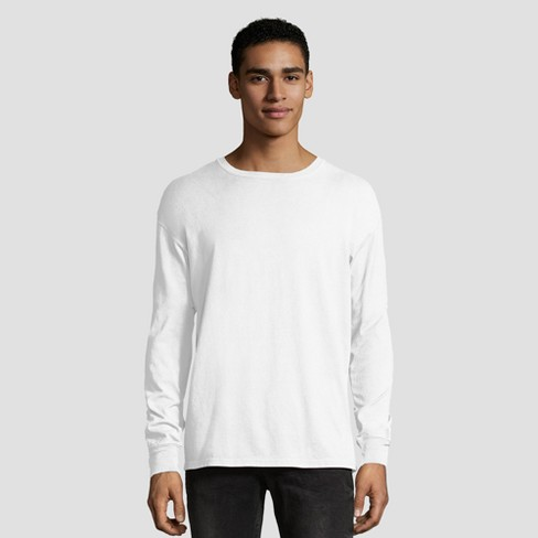 625ea38f Hanes 1901 Men's Big & Tall Long Sleeve T-Shirt - White 3XL : Target