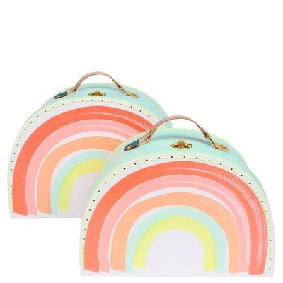 Meri Meri - Rainbow Suitcase - Bag and Luggage Sets - 2ct