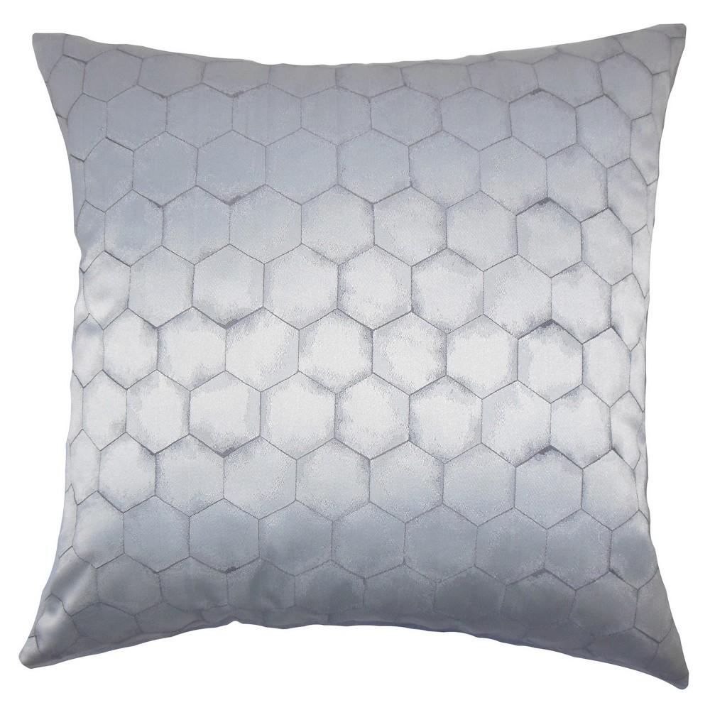 Gray Stripe Square Throw Pillow (18