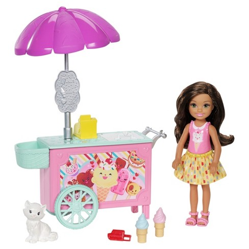 Barbie® Chelsea® African-American Doll w/ Ice Cream Cart and Kitty - image 1 of 5