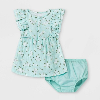 Baby Girls' Ruffle Gauze Dress - Cat & Jack™