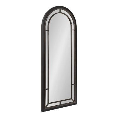 "20"" x 48"" Audubon Arch Wall Mirror Black - Kate & Laurel All Things Decor"