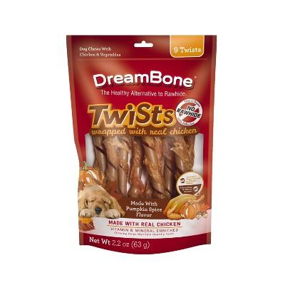 DreamBone Pumpkin Spice Chicken Wrapped Sticks Chews Dog Treats - 2.2oz