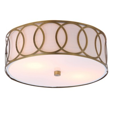 "12.25"" Metal Aria Flush Mount Ceiling Light (Includes Energy Efficient Light Bulb) - JONATHAN Y"