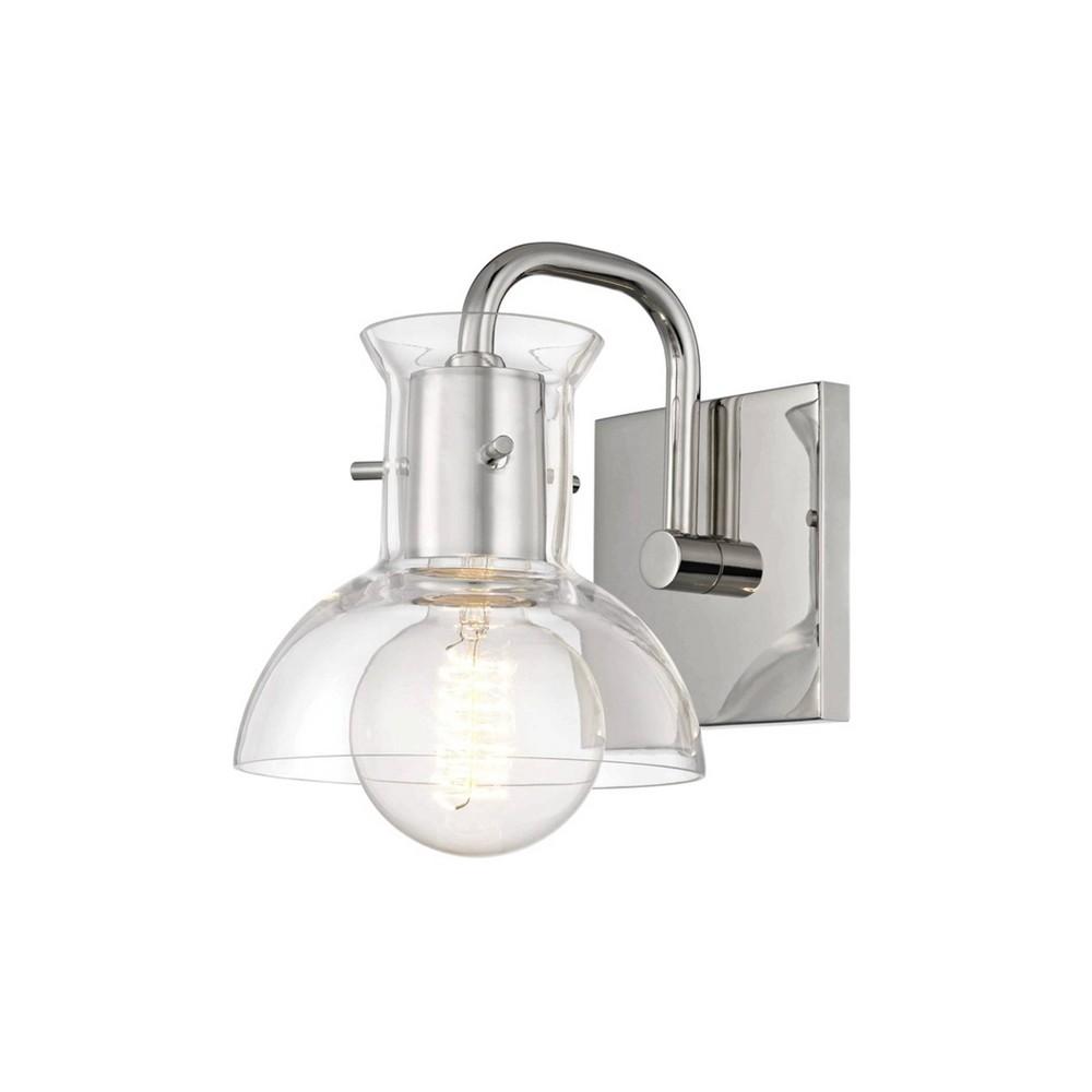 Riley 1-Light Vanity Light Polished Nickel - Mitzi by Hudson Valley Reviews