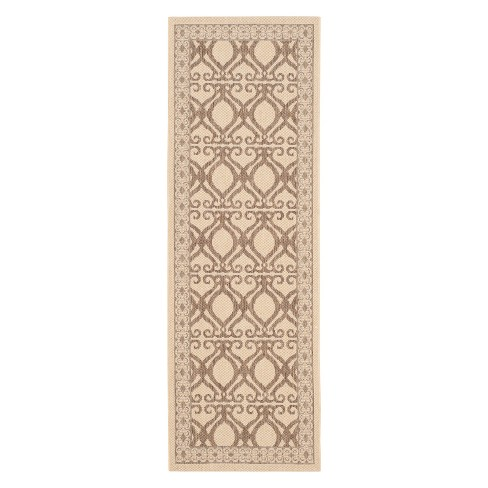 "Manisa Rectangle 2'3"" X 6'7"" Patio Rug - Natural / Brown - Safavieh® - image 1 of 3"