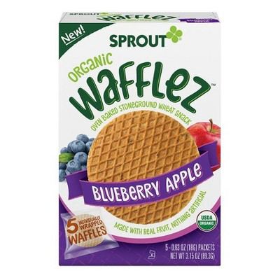 Sprout Foods Organic Blueberry Apple Wafflez Toddler Snacks - 3.15oz