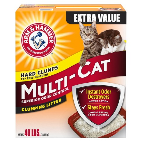 Arm & Hammer Clumping Cat Litter, Multi-Cat Strength - 40lb box - image 1 of 1