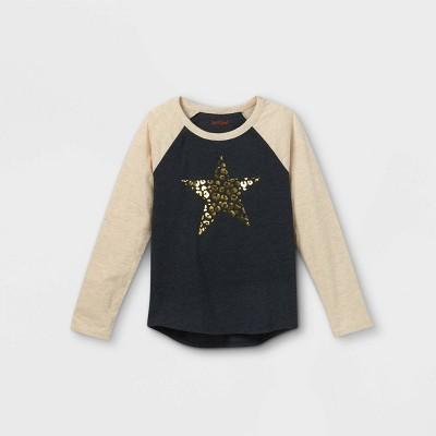 Girls' Printed Long Sleeve T-Shirt - Cat & Jack™