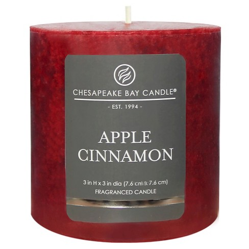 Mottled Pillar Candle Apple Cinnamon - Chesapeake Bay Candle - image 1 of 1