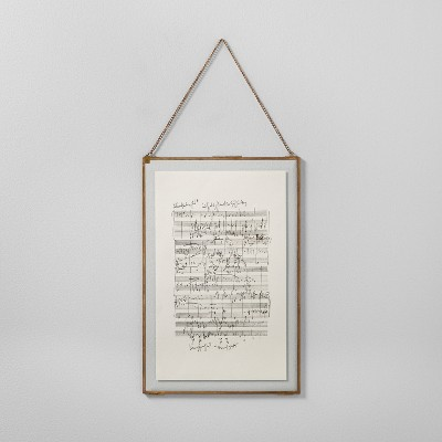 Music Notes Framed Wall Art (12 x18 )- Brass - Hearth & Hand™ with Magnolia