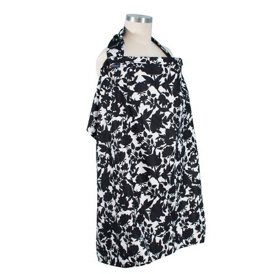 Bebe au Lait Cotton Nursing Cover Sakura - Black