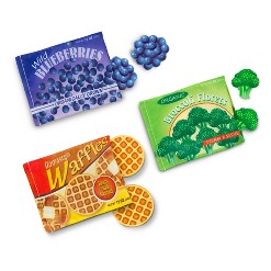 Melissa & Doug Store and Serve Frozen Food Resealable Cloth Bags With Wooden Play Food