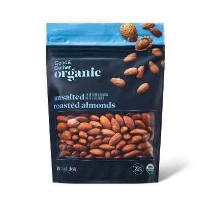 Organic Unsalted Roasted Almonds - 16oz - Good & Gather™