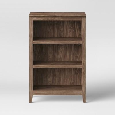 48  Carson 3 Shelf Bookcase Walnut Brown - Threshold™