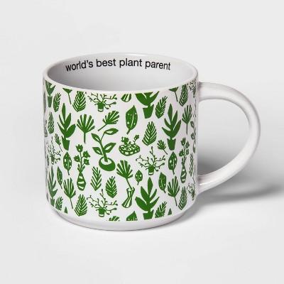 15oz Stoneware Plant Parent Mug Green - Room Essentials™