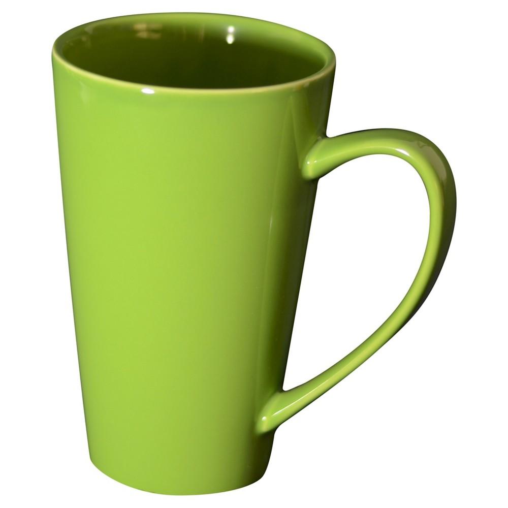 Image of 10 Strawberry Street 16oz 4pk Oversized Latte Mugs Green, Apple Green