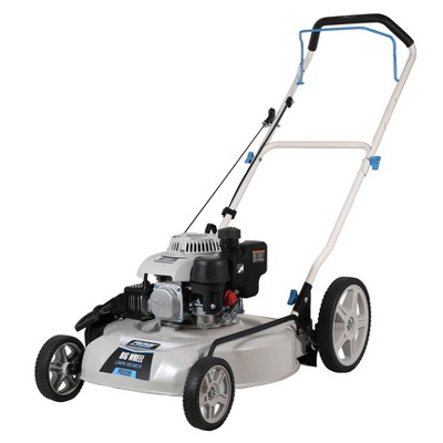"20"" Big Wheel Gas Lawn Mower White - Pulsar"