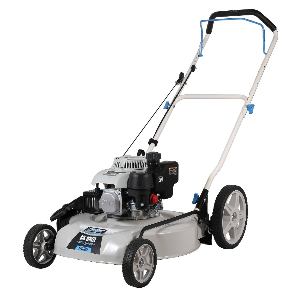 "Image of ""20"""" Big Wheel Gas Lawn Mower White - Pulsar"""