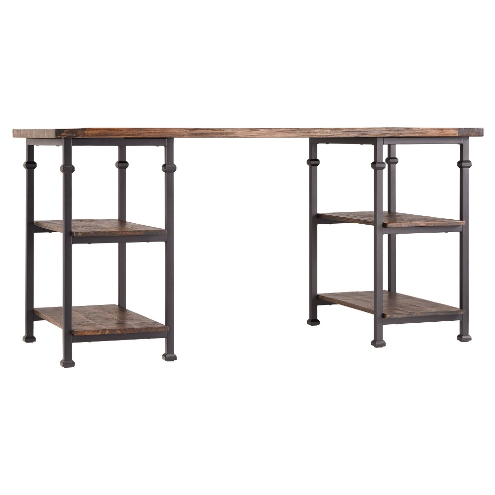 Ronay Rustic Industrial Desk Weathered Brown - Inspire Q