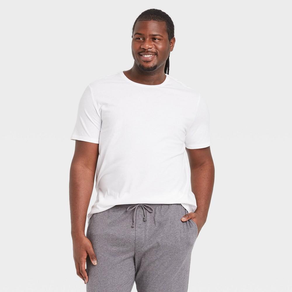 Men 39 S Big 38 Tall Knit Pajama Set Goodfellow 38 Co 8482 True White 2xb