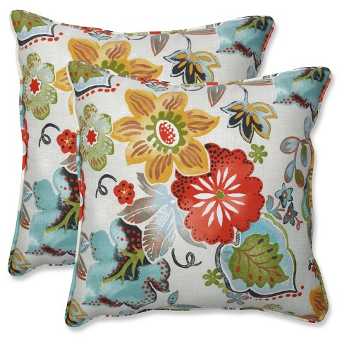 Outdoor/Indoor Alatriste Ivory Throw Pillow Set of 2 - Pillow Perfect - image 1 of 1