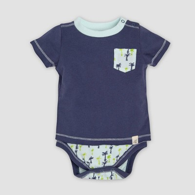 Burt's Bees Baby® Baby Boys' Organic Cotton Breezy Trees Bodysuit - Indigo 3-6M