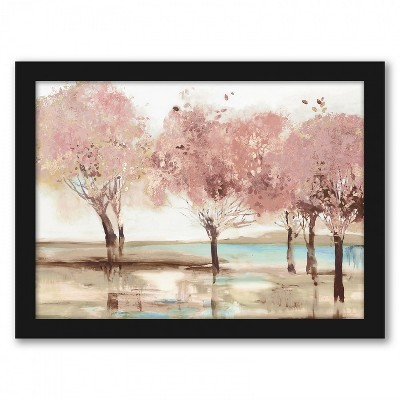 Americanflat Spring Transition by Pi Creative Art Black Frame Wall Art