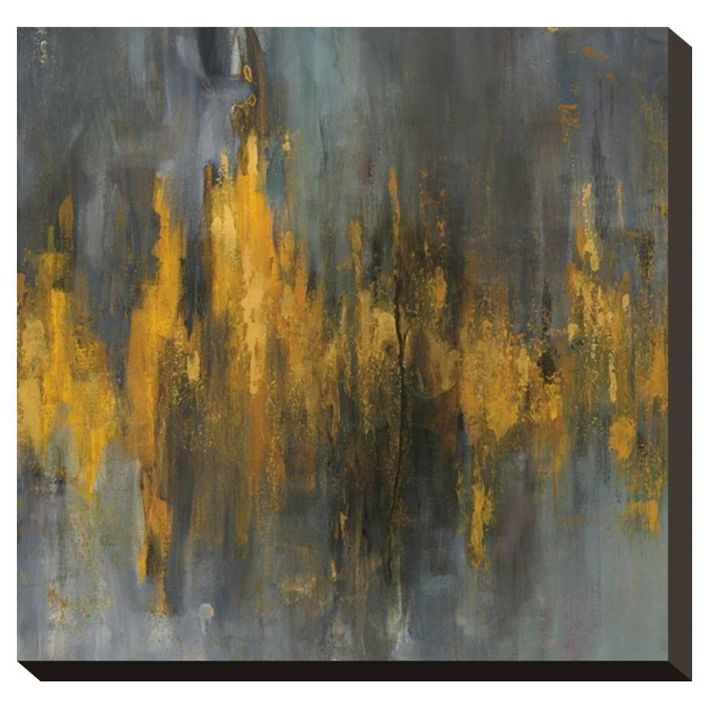 Black and Gold Abstract By Danhui Nai Stretched Canvas Print - Art.Com, Multicolored