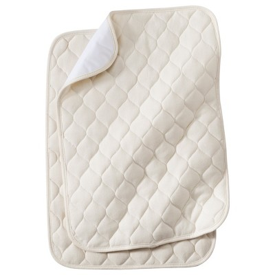 TL Care® Organic Cotton Waterproof Quilted Lap & Burp Pads - 2pk - Natural
