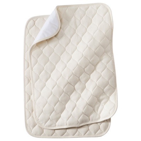 TL Care® Organic Cotton Waterproof Quilted Lap & Burp Pads - 2pk - Natural - image 1 of 1