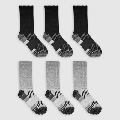 Fruit of the Loom Men's 6pk Breathable Performance Crew Socks - 6-12