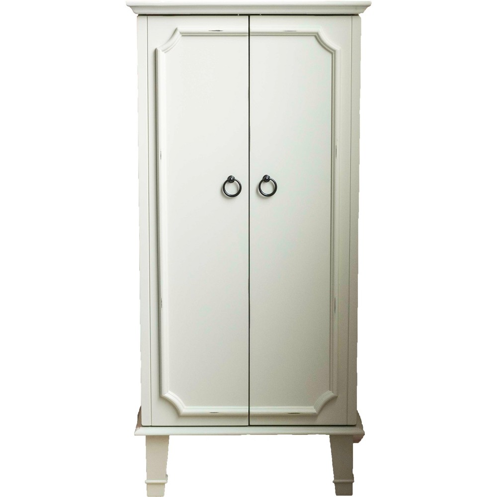 Cabby Standing Jewelry Armoire White - Hives & Honey