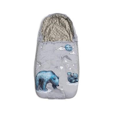 JumpOff Jo Baby Bunting Bag, Stroller Blanket and Sleeping Bag, 100% Cotton with Minky Lining, Mama Bear