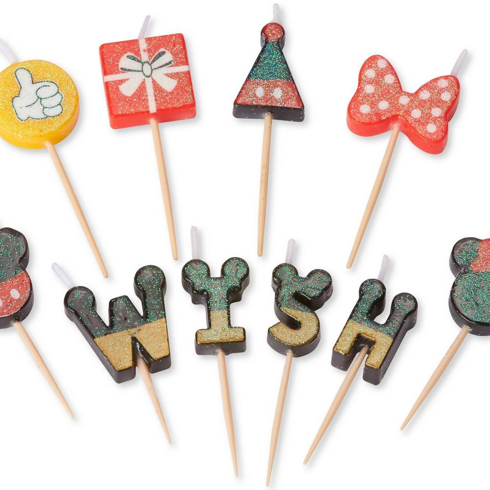 Image of 10ct Disney Mickey Mouse Birthday Toothpick Candles - Papyrus, White