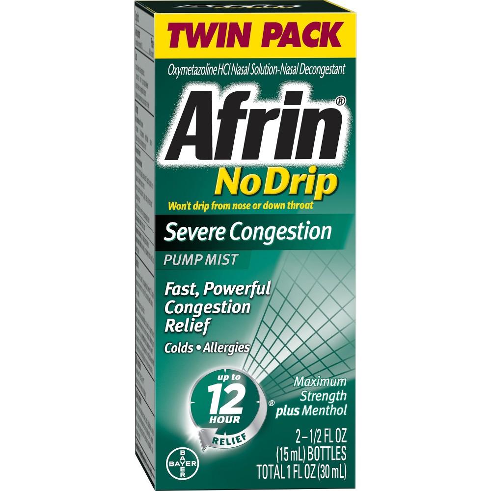 Image of Afrin No Drip Severe Congestion Relief Nasal Spray - 2 x 0.5 fl oz