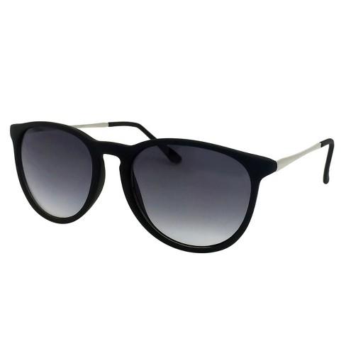 Women s Round Sunglasses - Black   Target 300e5873f