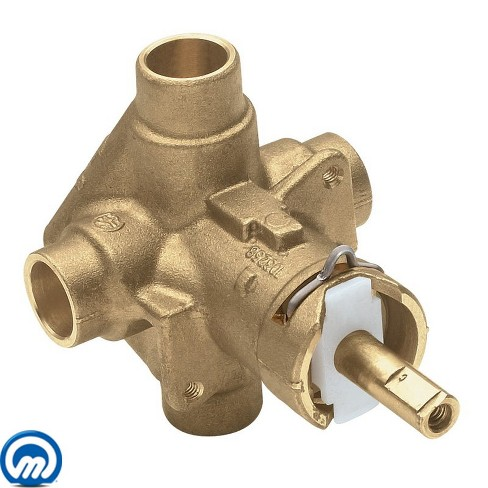 "Moen 2520 1/2"" Sweat (Copper-to-Copper) Posi-Temp Pressure Balancing Rough-In Valve (No Stops) - image 1 of 1"