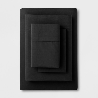 Solid Easy Care Sheet Set (King)Black - Made By Design™