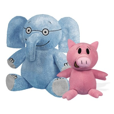 "YOTTOY Elephant 7"" & Piggie 5"" Plush Set of Companion Soft Toys"