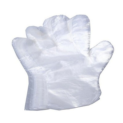 Disposable Gloves - These Disposable Food Prep Gloves Can Also be Used for Kitchen Cleaning, Plastic and Transparent - 100 Piece - One Size Fits Most