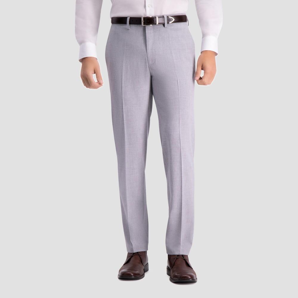 Haggar H26 Men's Slim Fit Premium Stretch Suit Pants - Light Gray 30x32