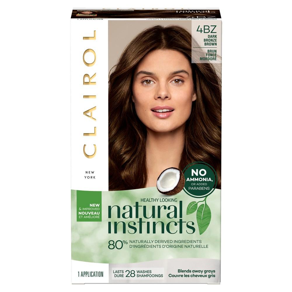 Image of Natural Instincts Clairol Non-Permanent Hair Color - 4BZ Dark Bronze Brown, Double Espresso - 1 KIT, 4BZ - Dark Bronze Brown