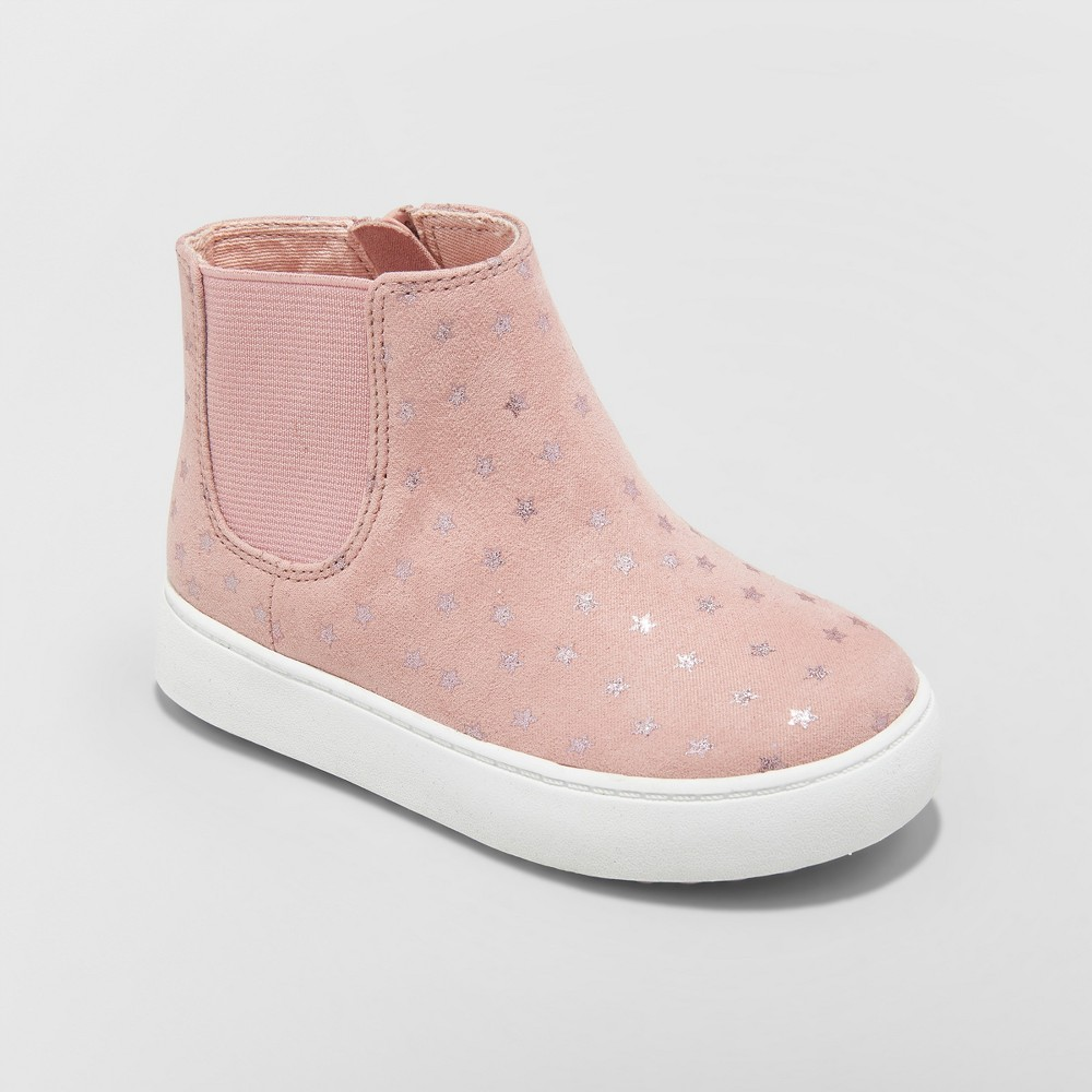 Toddler Girls' Olga Bootie with Glitters High Top Sneakers - Cat & Jack Pink 5
