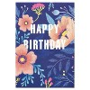 'Bright and Beautiful Day' Floral Birthday Card Navy Blue - image 4 of 4