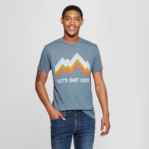Men's Short Sleeve Let's Get Lost Retro Graphic T-Shirt - Awake Navy - image 1 of 2