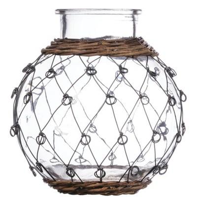 "Sullivans Wire Pattern Container Vase 8""H Clear"