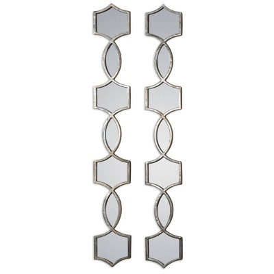 Oval Vizela Metal Mirrors Set of 2 Silver - Uttermost