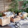 Fullerton Steel Wicker Patio Loveseat Linen - Project 62™ - image 2 of 4
